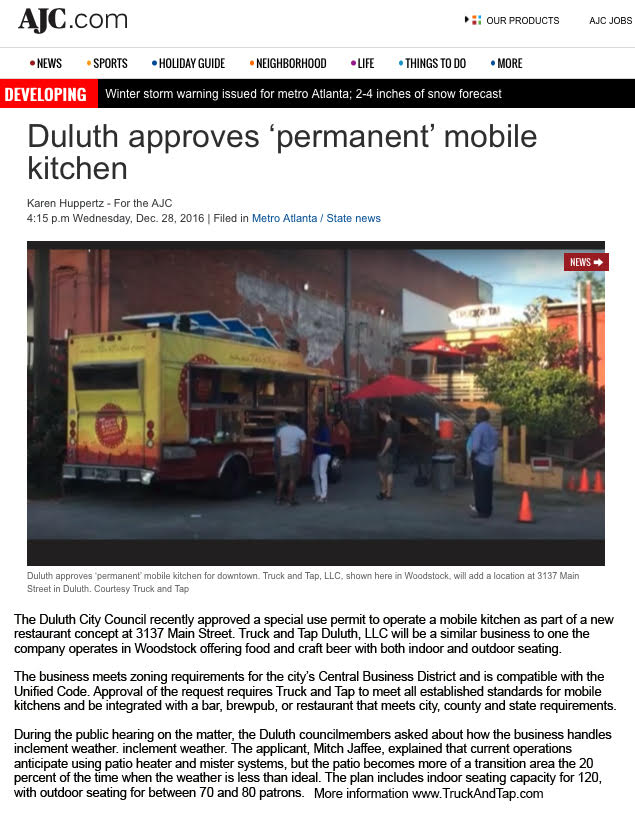 Duluth Approves Permanent Mobile Kitchen for Truck & Tap Expansion